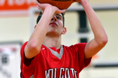 CIAC Boys Basketball; Watertown 63 vs. Wolcott 73 - Photo # 250