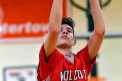 CIAC Boys Basketball; Watertown 63 vs. Wolcott 73 - Photo # 251