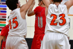 CIAC Boys Basketball; Watertown 63 vs. Wolcott 73 - Photo # 272