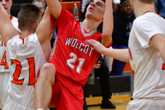 CIAC Boys Basketball; Watertown 63 vs. Wolcott 73 - Photo # 365