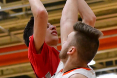 CIAC Boys Basketball; Watertown 63 vs. Wolcott 73 - Photo # 438