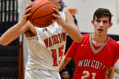 CIAC Boys Basketball; Watertown 63 vs. Wolcott 73 - Photo # 466