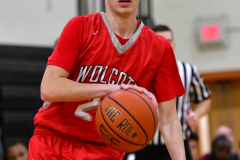 CIAC Boys Basketball; Watertown 63 vs. Wolcott 73 - Photo # 478
