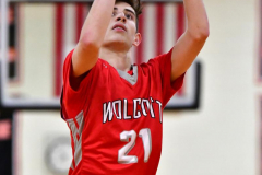 CIAC Boys Basketball; Watertown 63 vs. Wolcott 73 - Photo # 483