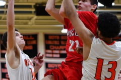 CIAC Boys Basketball; Watertown 63 vs. Wolcott 73 - Photo # 495