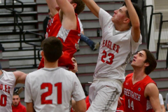 CIAC Boys Basketball; Wolcott 47 vs. Greenwich 76 - Photo # 350