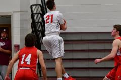 CIAC Boys Basketball; Wolcott 47 vs. Greenwich 76 - Photo # 368