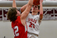 CIAC Boys Basketball; Wolcott 47 vs. Greenwich 76 - Photo # 443