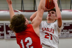 CIAC Boys Basketball; Wolcott 47 vs. Greenwich 76 - Photo # 444