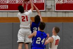 CIAC Boys Basketball; Wolcott 69 vs. East Hampton 63 - Photo # 1027