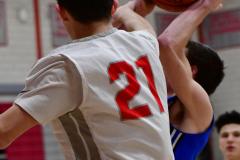 CIAC Boys Basketball; Wolcott 69 vs. East Hampton 63 - Photo # 337