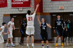 CIAC Boys Basketball; Wolcott 81 vs. Oxford 74 - Photo # 353