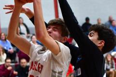 CIAC Boys Basketball; Wolcott 81 vs. Oxford 74 - Photo # 442