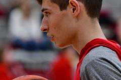 CIAC Boys Basketball; Wolcott vs. Ansonia, Pregame - Photo # (81)