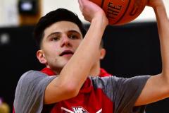 CIAC Boys Basketball; Watertown 63 vs. Wolcott 73 - Photo # 006