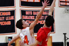CIAC Boys Basketball; Watertown 63 vs. Wolcott 73 - Photo # 144