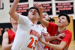 CIAC Boys Basketball; Watertown 63 vs. Wolcott 73 - Photo # 163