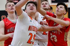 CIAC Boys Basketball; Watertown 63 vs. Wolcott 73 - Photo # 164