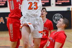 CIAC Boys Basketball; Watertown 63 vs. Wolcott 73 - Photo # 176