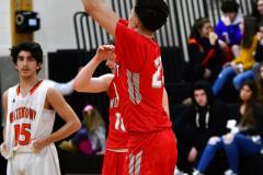 CIAC Boys Basketball; Watertown 63 vs. Wolcott 73 - Photo # 318