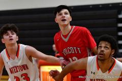 CIAC Boys Basketball; Watertown 63 vs. Wolcott 73 - Photo # 346