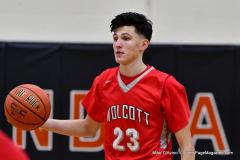 CIAC Boys Basketball; Watertown 63 vs. Wolcott 73 - Photo # 360