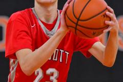 CIAC Boys Basketball; Watertown 63 vs. Wolcott 73 - Photo # 377