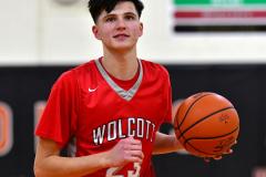 CIAC Boys Basketball; Watertown 63 vs. Wolcott 73 - Photo # 384