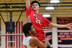 CIAC Boys Basketball; Watertown 63 vs. Wolcott 73 - Photo # 519