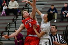 CIAC Boys Basketball; Wolcott 47 vs. Greenwich 76 - Photo # 151