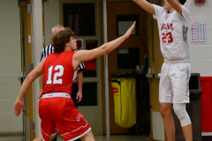 CIAC Boys Basketball; Wolcott 47 vs. Greenwich 76 - Photo # 200