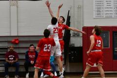 CIAC Boys Basketball; Wolcott 47 vs. Greenwich 76 - Photo # 228