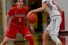CIAC Boys Basketball; Wolcott 47 vs. Greenwich 76 - Photo # 310