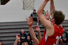 CIAC Boys Basketball; Wolcott 47 vs. Greenwich 76 - Photo # 371