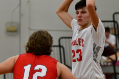 CIAC Boys Basketball; Wolcott 47 vs. Greenwich 76 - Photo # 382