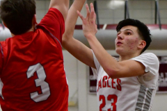 CIAC Boys Basketball; Wolcott 47 vs. Greenwich 76 - Photo # 449