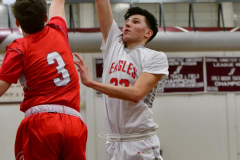 CIAC Boys Basketball; Wolcott 47 vs. Greenwich 76 - Photo # 450