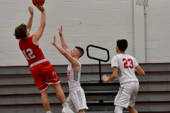 CIAC Boys Basketball; Wolcott 47 vs. Greenwich 76 - Photo # 470