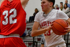 CIAC Boys Basketball; Wolcott 47 vs. Greenwich 76 - Photo # 482