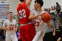 CIAC Boys Basketball; Wolcott 47 vs. Greenwich 76 - Photo # 483