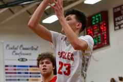 CIAC Boys Basketball; Wolcott 47 vs. Greenwich 76 - Photo # 549