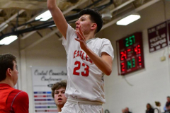 CIAC Boys Basketball; Wolcott 47 vs. Greenwich 76 - Photo # 550