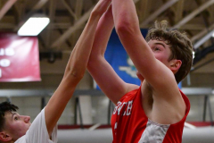 CIAC Boys Basketball; Wolcott 47 vs. Greenwich 76 - Photo # 633