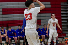 CIAC Boys Basketball; Wolcott 69 vs. East Hampton 63 - Photo # 376