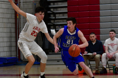 CIAC Boys Basketball; Wolcott 69 vs. East Hampton 63 - Photo # 464