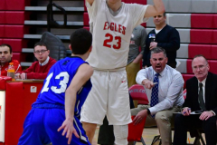 CIAC Boys Basketball; Wolcott 69 vs. East Hampton 63 - Photo # 601