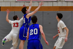 CIAC Boys Basketball; Wolcott 69 vs. East Hampton 63 - Photo # 944