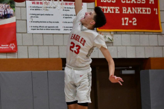 CIAC Boys Basketball; Wolcott 81 vs. Oxford 74 - Photo # 478
