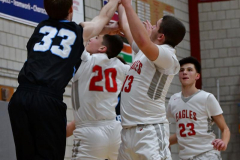CIAC Boys Basketball; Wolcott 81 vs. Oxford 74 - Photo # 576