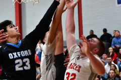 CIAC Boys Basketball; Wolcott 81 vs. Oxford 74 - Photo # 677